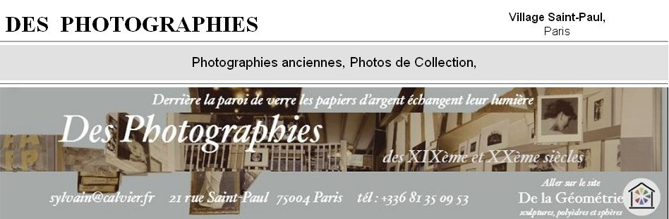 photos de collection, Des Photographies